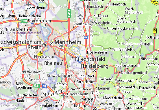 Karte Stadtplan Edingen