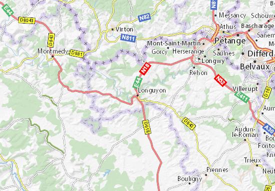 Longuyon Map