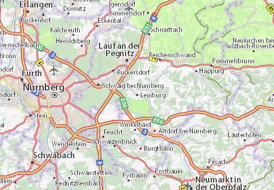 Kaart Plattegrond Leinburg