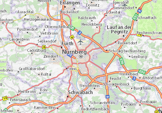 Map of Nuremberg Michelin Nuremberg map ViaMichelin – Nuremberg Tourist Map