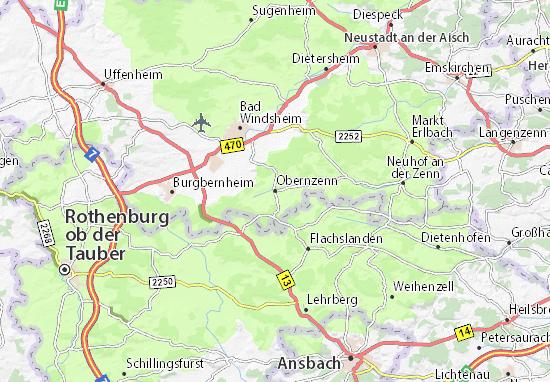 Kaart Plattegrond Obernzenn