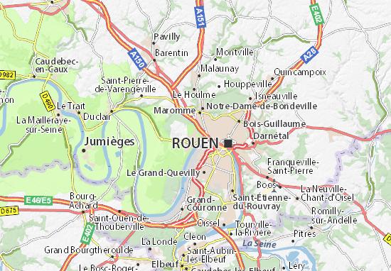 Karte Stadtplan Canteleu