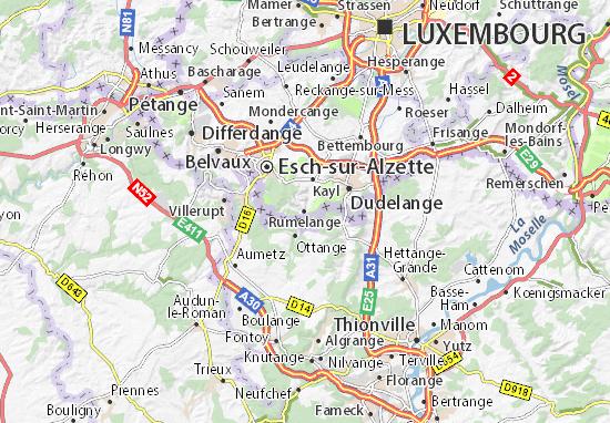 Karte Stadtplan Rumelange