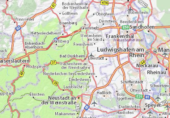 Kaart Plattegrond Bad Dürkheim