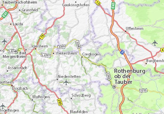 Creglingen Map
