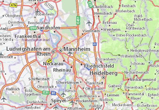 Kaart Plattegrond Ilvesheim