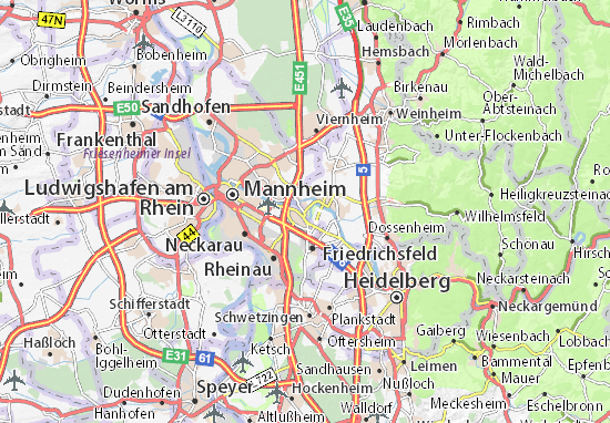 Karte Stadtplan Ilvesheim