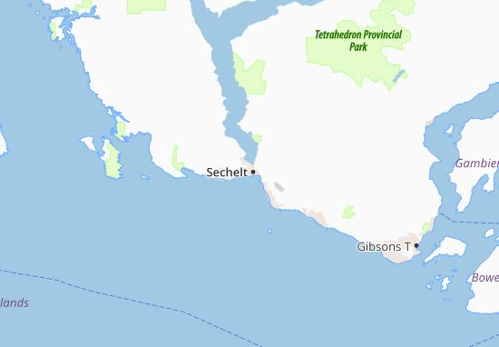 Sechelt Map