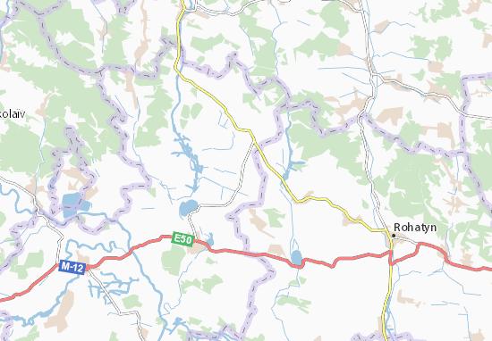 Hrusyatychi Map