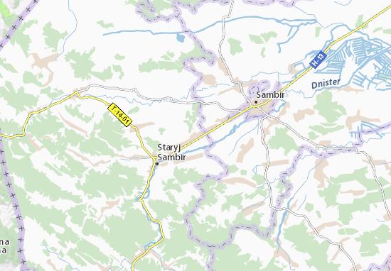 Mapa Plano Torchynovychi