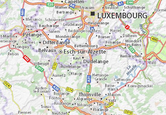 Dudelange Map