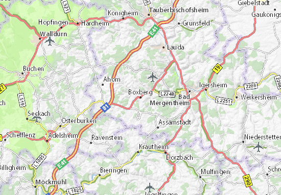 Karte Stadtplan Boxberg