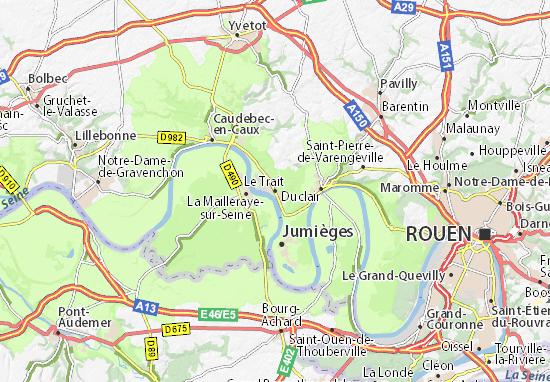 Karte Stadtplan Le Trait