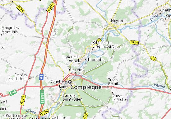 Karte Stadtplan Thourotte