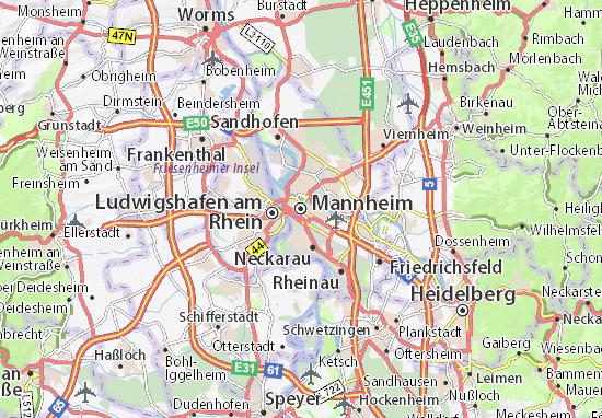 Carte-Plan Mannheim