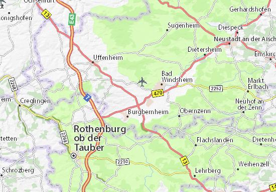 Karte Stadtplan Schwebheim