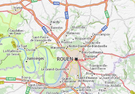 Mapa Plano Notre-Dame-de-Bondeville