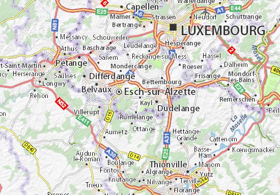 Karte Stadtplan Kayl