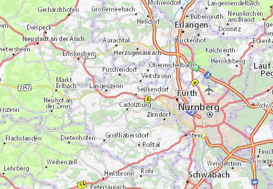 Seukendorf Map