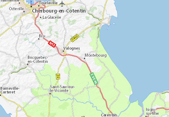 Montebourg Map