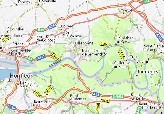 Karte Stadtplan Notre-Dame-de-Gravenchon