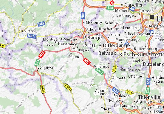 Haucourt-Moulaine Map