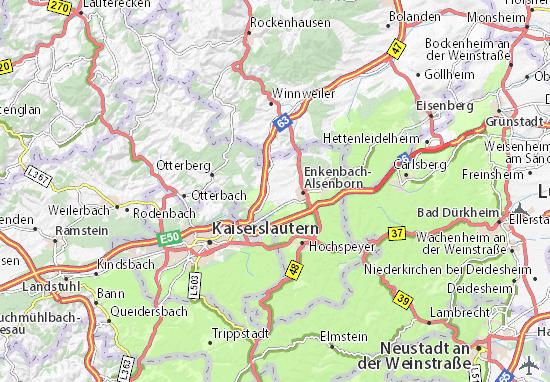 Karte Stadtplan Mehlingen