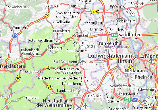 Map of Kallstadt - Michelin Kallstadt map - ViaMichelin