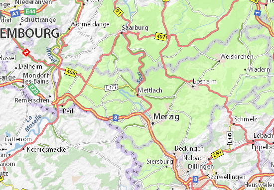 Carte-Plan Mettlach