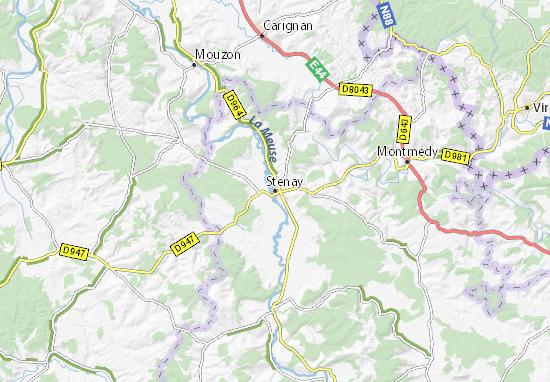 Stenay Map