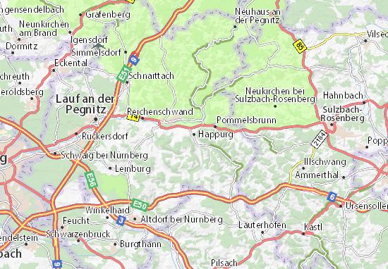 Karte Stadtplan Happurg