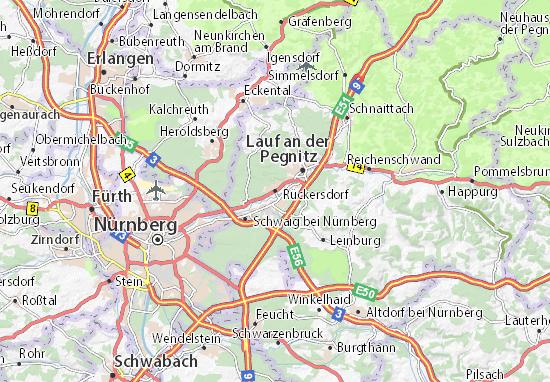 Karte Stadtplan Rückersdorf