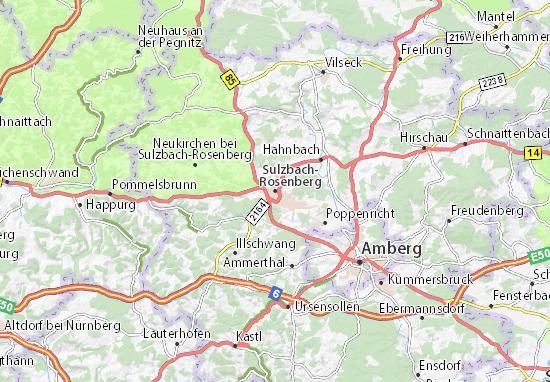 Karte Stadtplan Sulzbach-Rosenberg