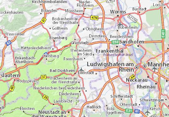 Freinsheim Map