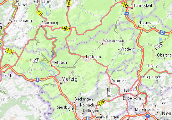 Carte-Plan Losheim