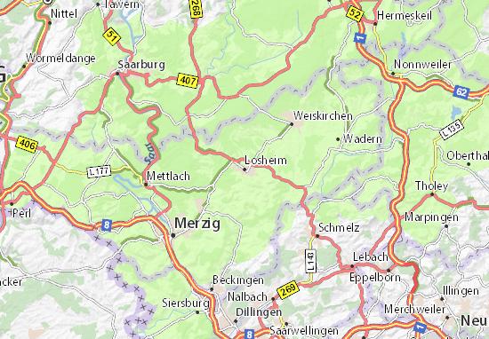 Karte Stadtplan Losheim