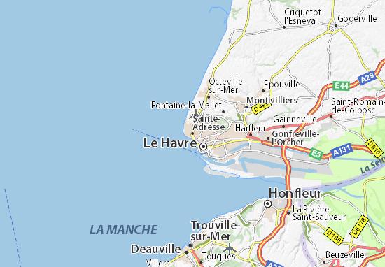 Karte Stadtplan Sainte-Adresse