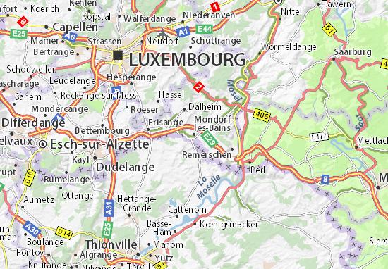 Karte Stadtplan Mondorf-les-Bains