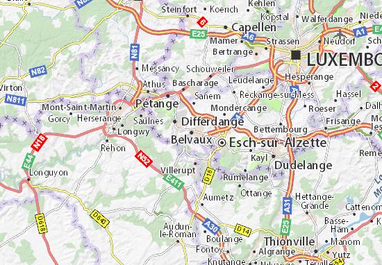 Belvaux Map