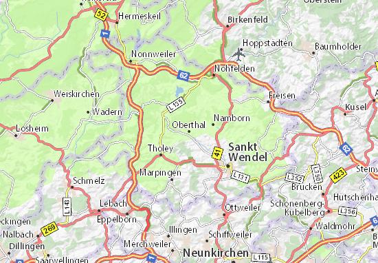 Karte Stadtplan Oberthal