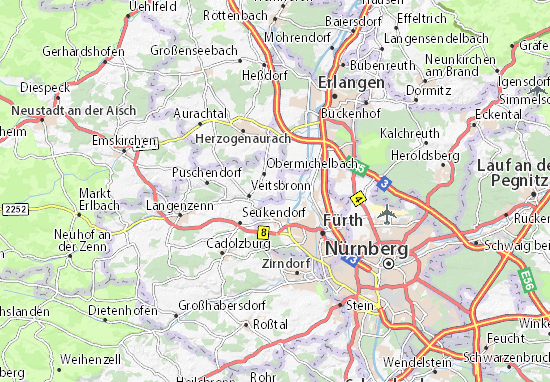 Detailed Map Of Rothenberg Rothenberg Map Viamichelin
