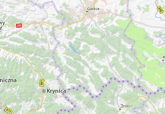 Mapa Uście Gorlickie