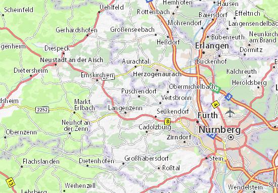 Karte Stadtplan Puschendorf