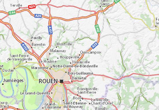 Karte Stadtplan Quincampoix