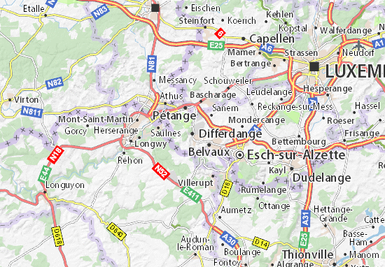 Carte-Plan Differdange