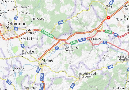 Lipník nad Bečvou Map