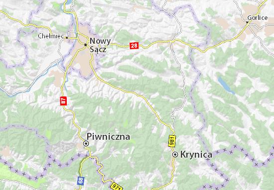 Mapa Łabowa