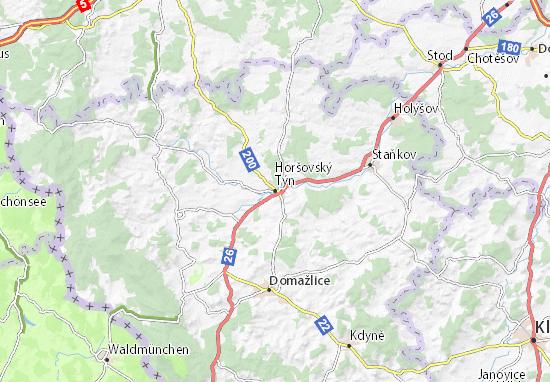 Carte-Plan Horšovský Týn