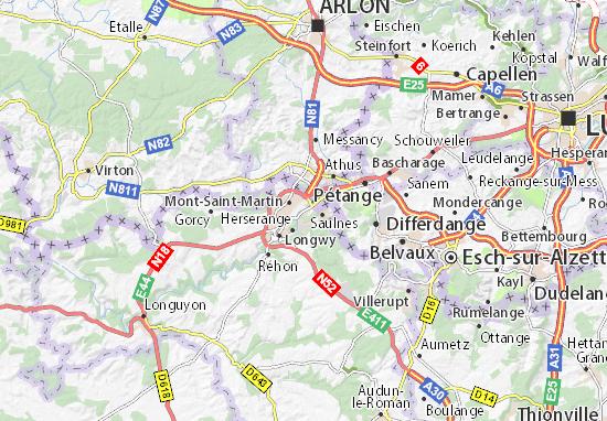 Longlaville Map