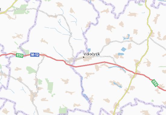 Mapa Plano Voločys'k